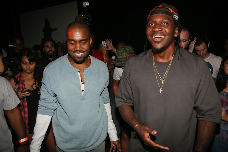 From left: Kanye West and Pusha T