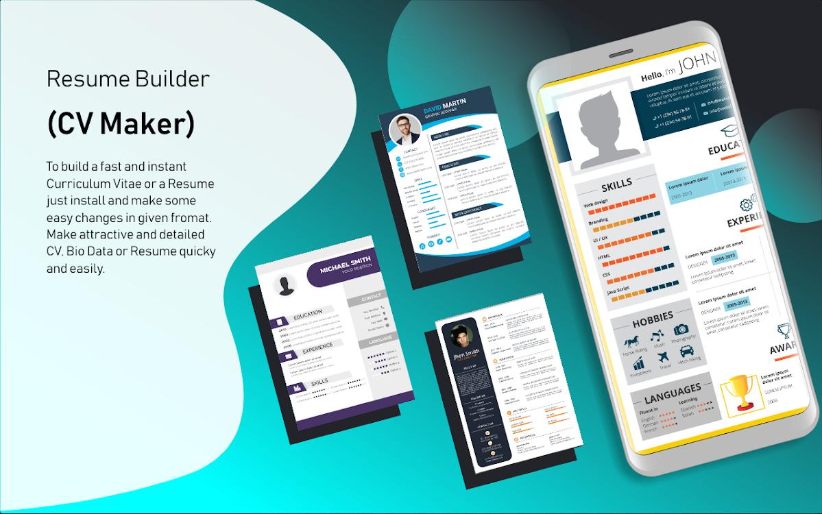 Resume Builder Cv Maker Free Resume Templates Android Apps