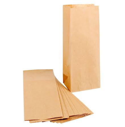 Påse 9x6,5x22,5cm brun 100/fp