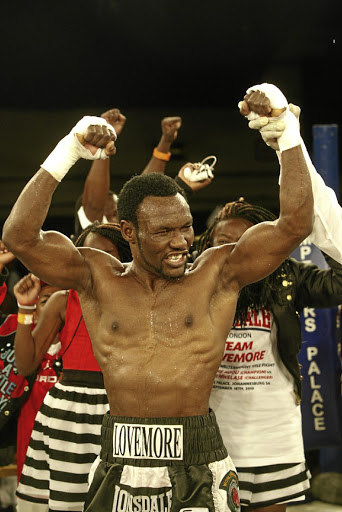 Lovemore Ndou after the IBO welterweight title fight against Bongani Mwelase at Emperors Palace.