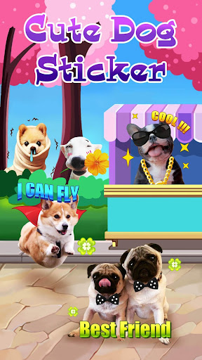 Dog Face Sticker with Lovely Style for Snapchat v2.0 screenshots 1