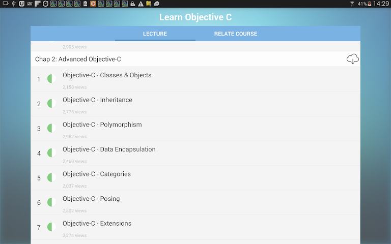 android Learn Objective C Screenshot 5