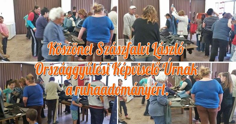 Köszönet Szászfalvi László Országgyűlési Képviselő Úrnak a ruhaadományért 2017