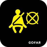biểu tượng an toàn túi khí bên xe