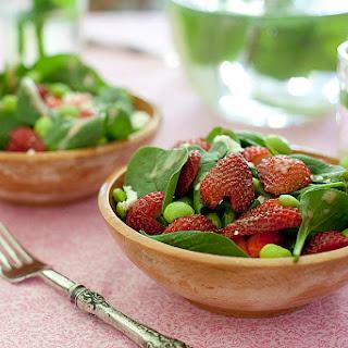 Strawberry Edamame Salad.