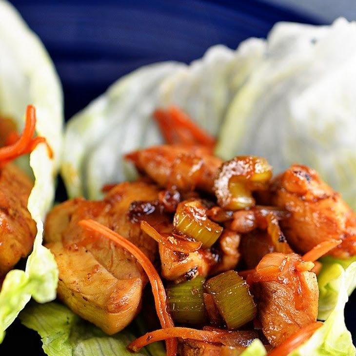 Honey Sriracha Chicken Lettuce Wraps