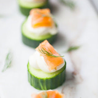 Cucumber and Smoked Salmon Hors D'oeuvres