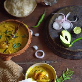 Prawn Curry in coconut milk and raw mango