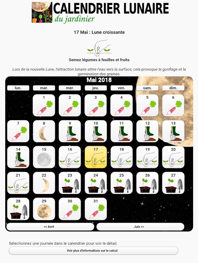 Calendrier lunaire du jardin applications android sur for Calendrier lunaire jardin