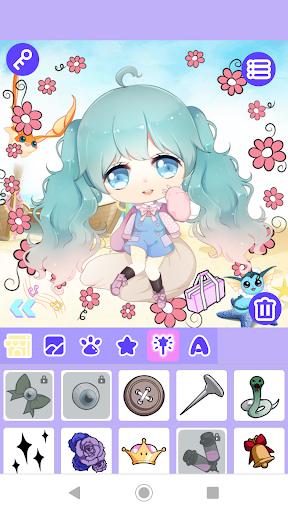 Code Triche Cute Girl Avatar Maker APK MOD screenshots 3