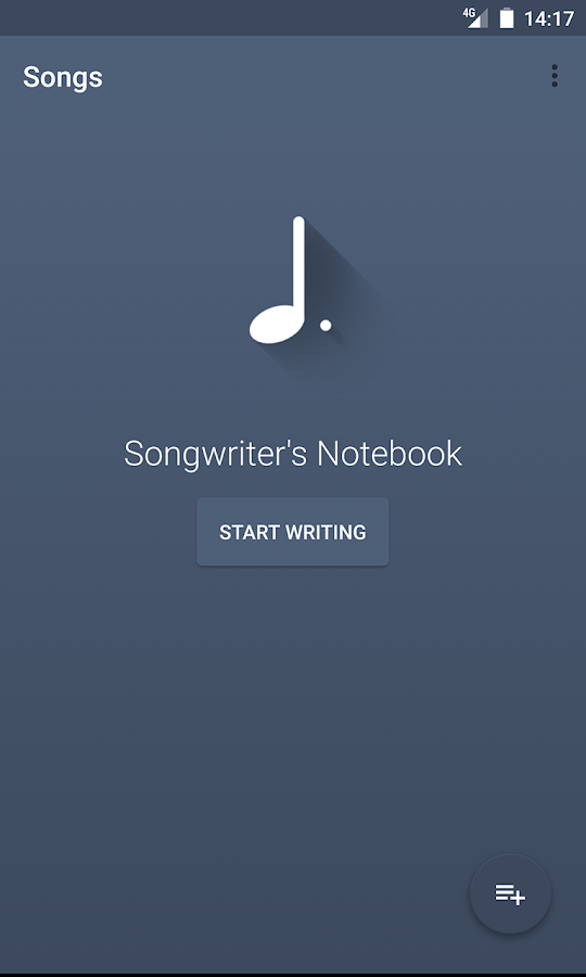 Songwriter's Notebook- screenshot