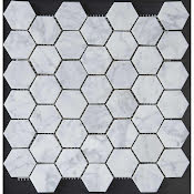 Mosaik Marmor Carrara Hexagon