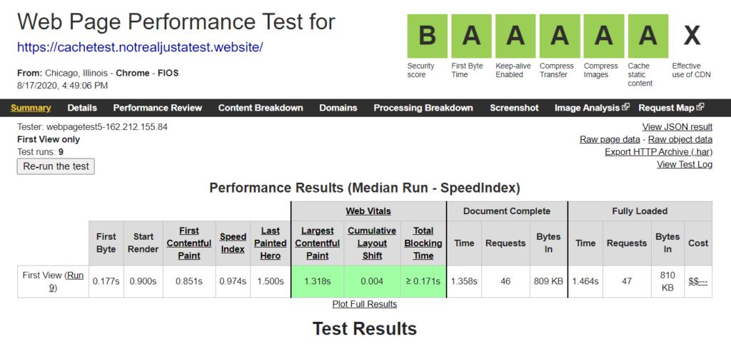 Снижение времени загрузки с WP Fastest Cache