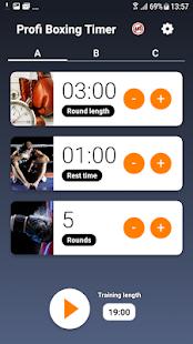Profi Boxing Timer - Free Interval timer for PC-Windows 7,8,10 and Mac apk screenshot 1