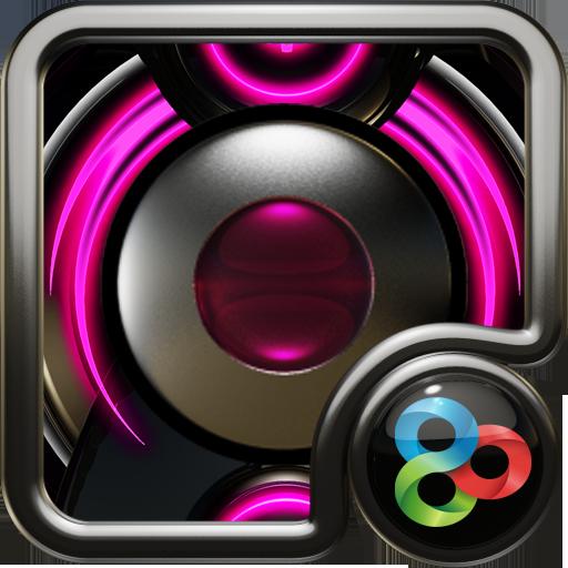 Pink Glow GO Launcher Theme