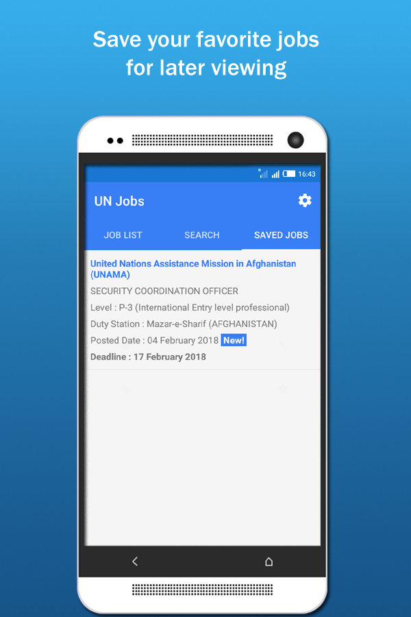 UN Jobs- screenshot