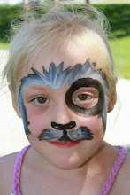 Photo: Puppy face paint by Tess, Seal Beach, Ca. Call to Book Tess at 888-750-7024