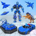 US Police Tiger Robot Car Game icon