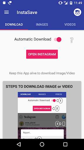 InstaSave to download Instagram Images and Videos Apk by BigWruksh