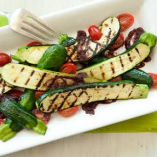 Grilled Zucchini with Kalamata Vinaigrette.