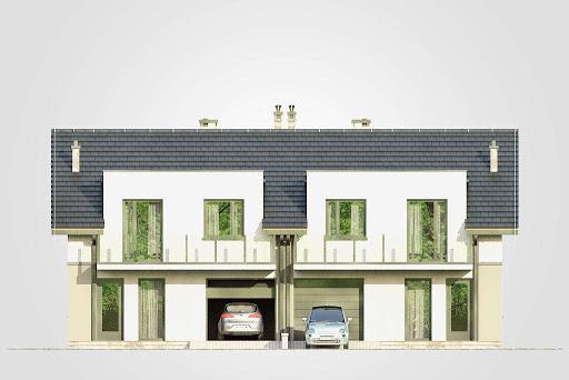 Double House III - Elewacja przednia