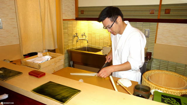 Sukiyabashi Jiro's Son's prodigy preparing my private lunch for $200 in Roppongi, Tokyo, Japan