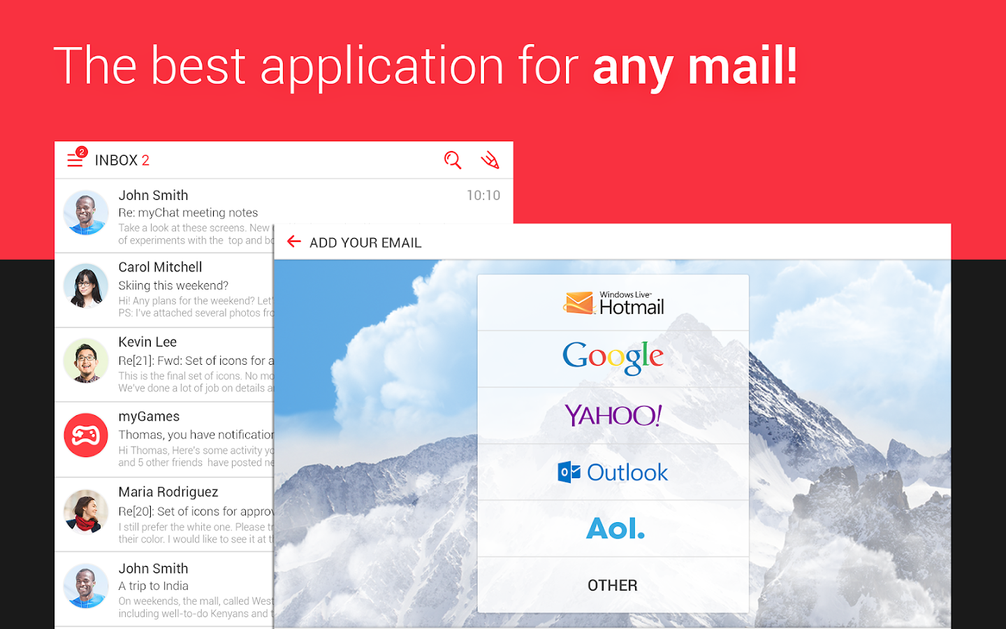 myMail—Free Email Application - screenshot