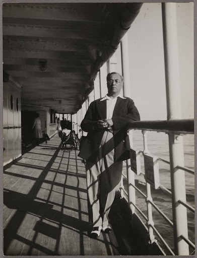 "Wassily Kandinsky on the deck of the ""Lotus"""