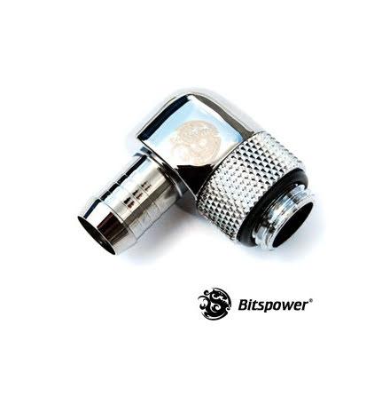 "Bitspower svivelnippel, 90°, 1/4""BSPx3/8""ID"