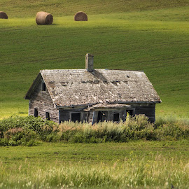 PRAIRIE HOME by Dana Johnson - Buildings & Architecture Other Exteriors ( field, farm, house, building, architecture, praire, home )