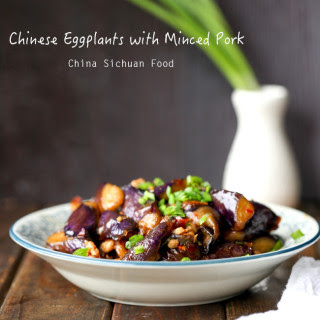 Chinese Eggplants with Minced Pork.