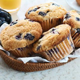 Gluten Free Blueberry Buttermilk Muffins.
