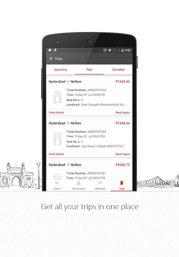 AbhiBus Online Bus Tickets- screenshot