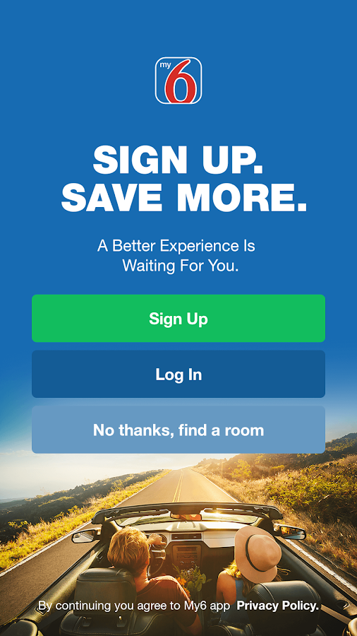 My6 - Book & Save at Motel 6- screenshot