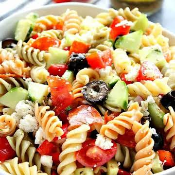 Italian Pasta Salad with Pepperoni - Crunchy Creamy Sweet