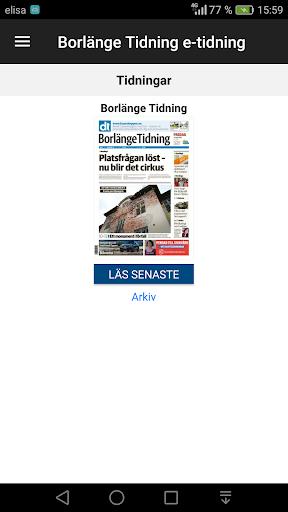 Borlu00e4nge Tidning e-tidning  screenshots 1