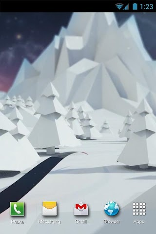 android Low-poly winter Live Wallpaper Screenshot 1