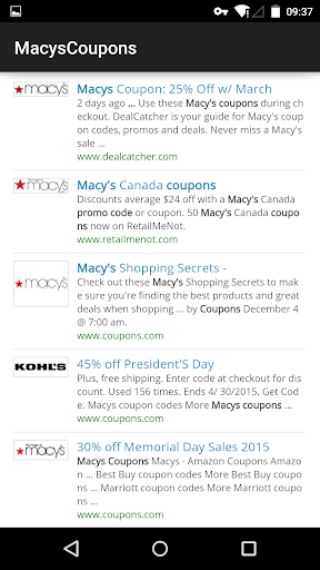 Coupons for Macys