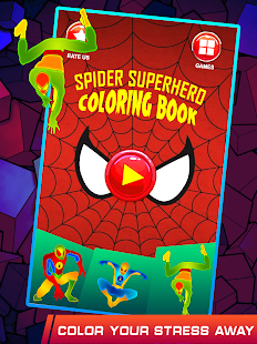 Spider Superhero Coloring Book Pages for kids- screenshot thumbnail