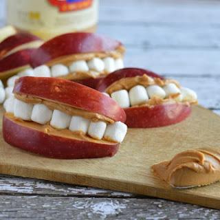 Apple Peanut Butter Teeth | Fun Easy Kid's Snack.