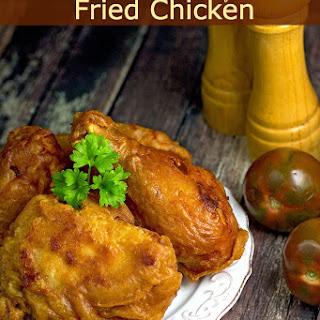 Beer Batter Dipt Fried Chicken.