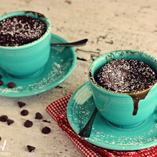 Gooey Chocolate Cake Cups for Two {in 2 minutes!}