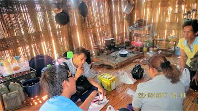 Photo: Kae Noi Lahu village; Wi with Chaliao and Kanda