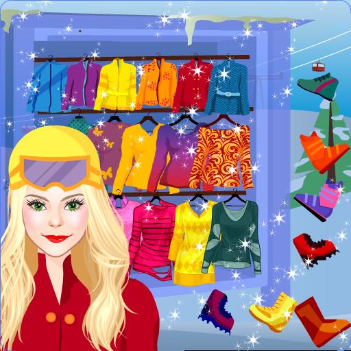 Ice Princess Ski Dress up (game)