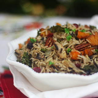 Winter Wild Rice Pilaf with Butternut Squash, Kale and Cranberries Recipe