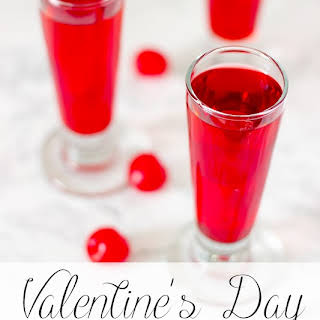 Valentine's Day Cherry Vodka Cocktail and Shooter.