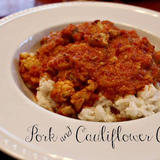 Pork & Cauliflower Curry.