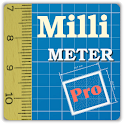 Millimeter Pro - screen ruler, protractor, level icon