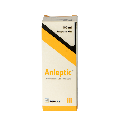 carbamazepina anleptic 100mg/5ml 100ml suspensión square