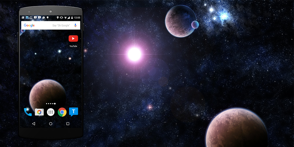 3d Parallax Weather Live Wallpaper For Android Os Planet Live Wallpaper Android Apps On Google Play